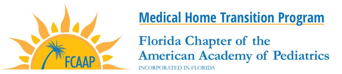FCAAP Medical Home Transition Program